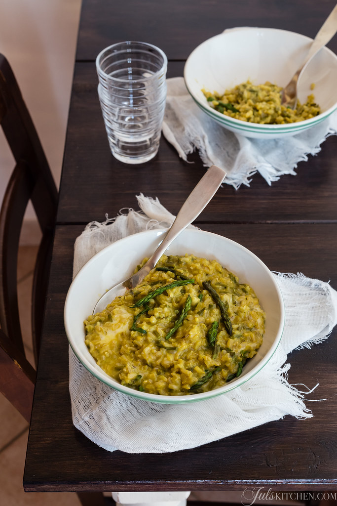 Wild asparagus risotto