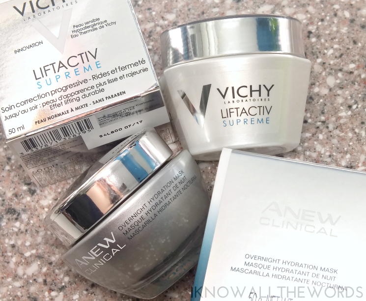 day & night duo- vichy liftactive and avon anew overnight hydration mask (3)