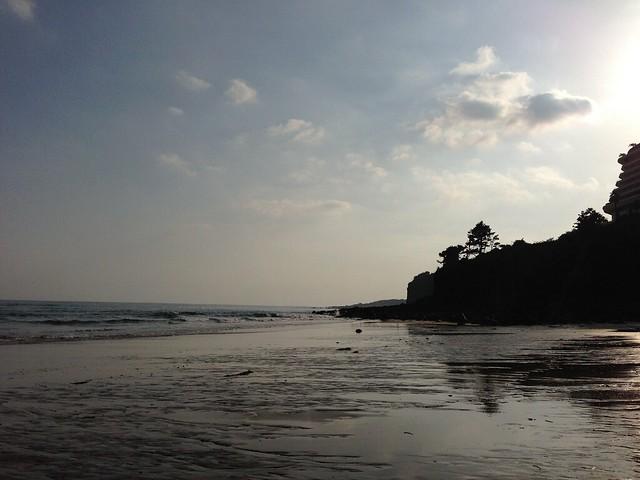 Jungmun Beach in the evening