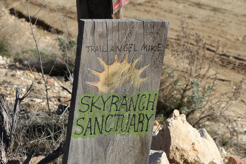 Skyranch Sanctuary sign on Lost Valley Road