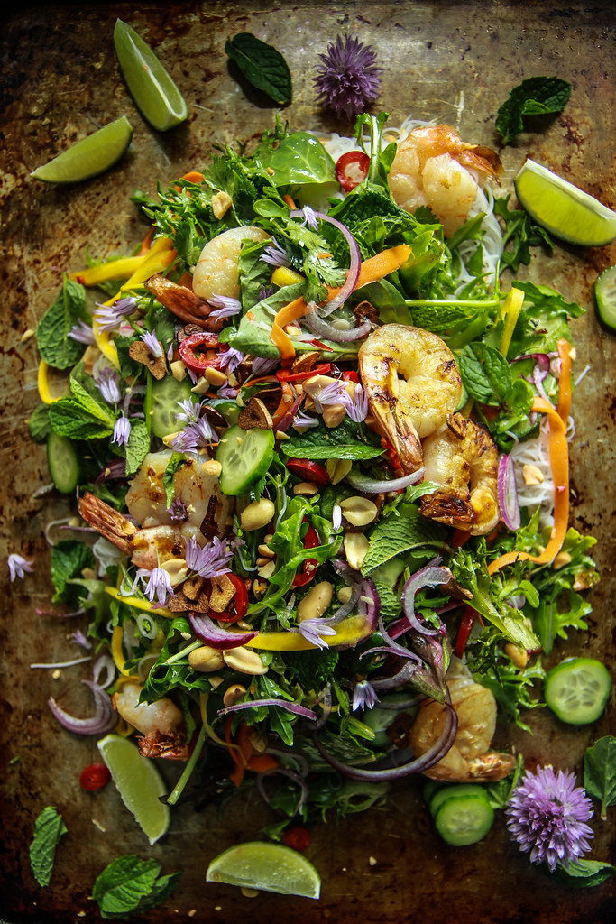 Vietnamese Shrimp Salad from HeatherChristo.com