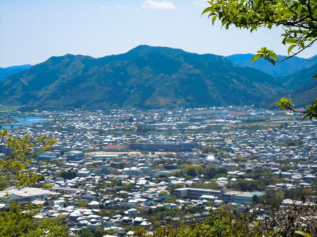 萩城詰丸から見た風景
