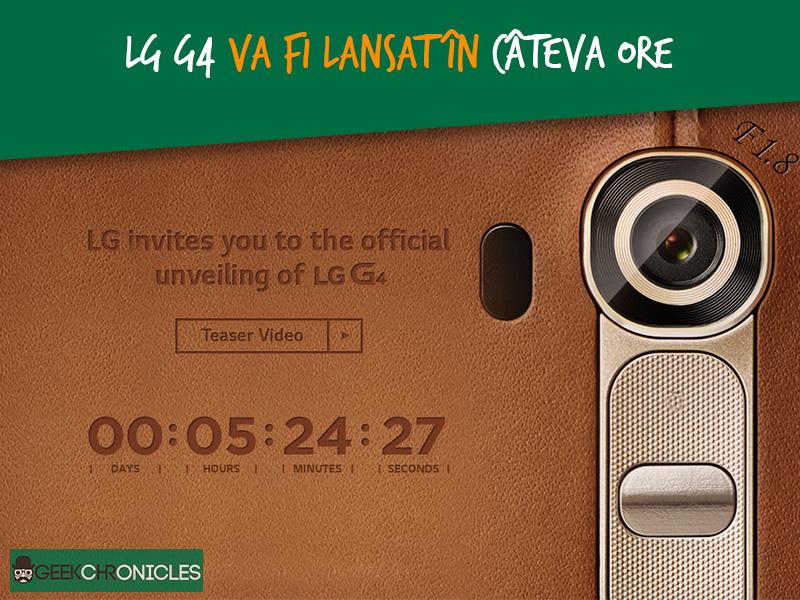 evenimentul de lansare a lui LG G4