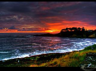 Depoe Bay Sunset, Oregon Coast, USA