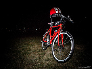 Pit stop during a midnight ride