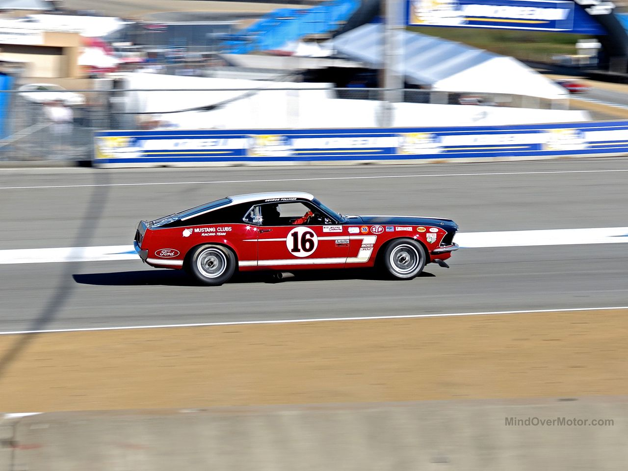 Ford Mustang Racing Car Laguna Seca