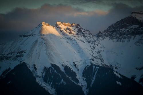 winter sunset sky mountain snow storm mountains colorado unitedstates dusk rockymountains ridgway sanjuanmountains