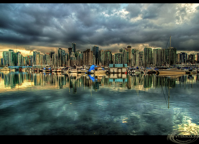 Downtown Vancouver reflections, BC, Canada
