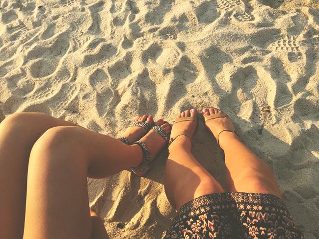 hiekassa