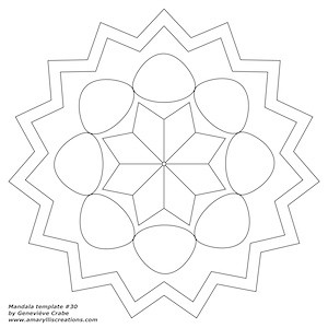 Mandala template 30