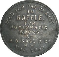 Sage book raffle token obverse