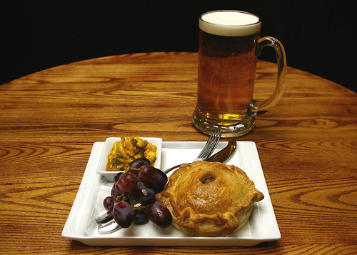 Pork pie and a pint offer