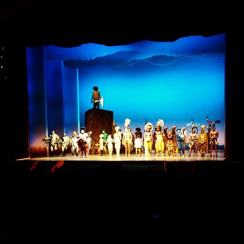 The Lion King curtain call...