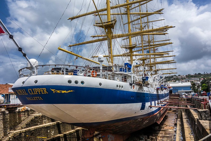 Royal Clipper in Dry Dock