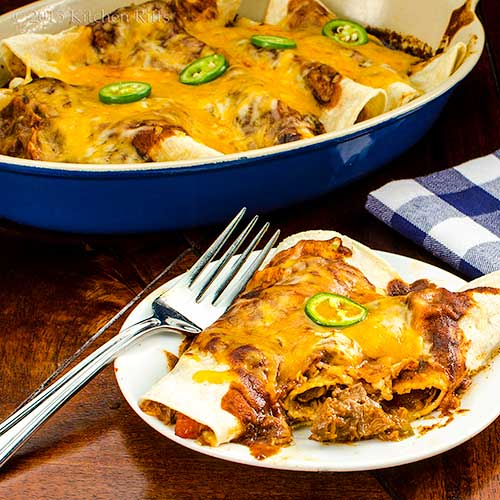 Tex-Mex Shredded-Beef Enchiladas