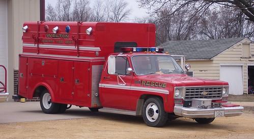 county rescue fire clinton iowa chevy ia volunteer welton dept