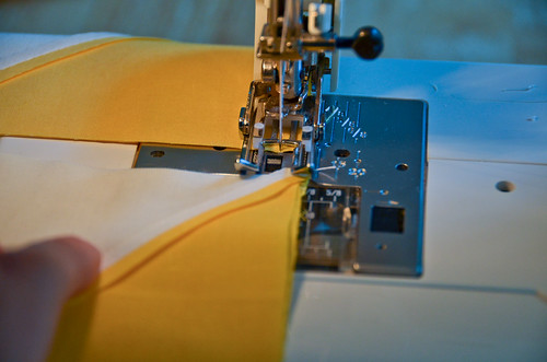 3. Sew Along Seam Edge, Not Breaking Thread In Between Pairs