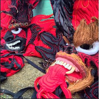 Carnival Diablo masks, Isla Colon, Bocas del Toro