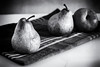 pears in black and white - 2015