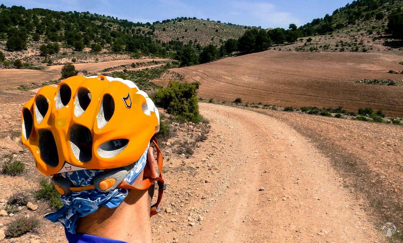 Aspecto del camino que llevamos hacia las Lomas de Gadea