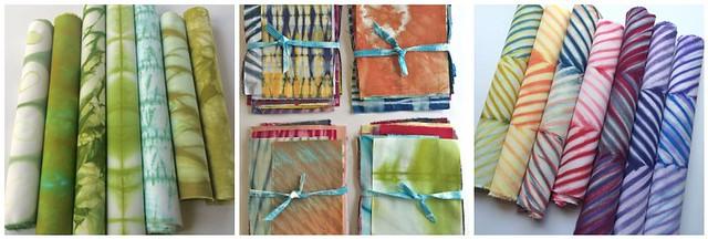 Cape Cod Shibori colored fabrics