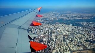 Tel-Aviv vom Flugzeug