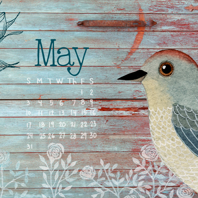 May Desktop Calendar 2015IG