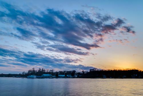 park sunset sky clouds geotagged evening nikon unitedstates indiana hdr angola lakejames pokagonstatepark nikond5300