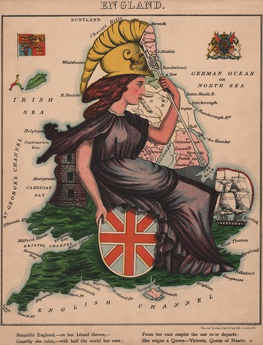 Caricature map of England by Aleph