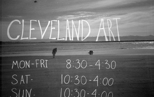 Cleveland Art [Signs & Beaches - Double Exposure Project #2]