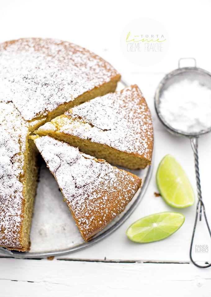 torta al lime e crème fraiche