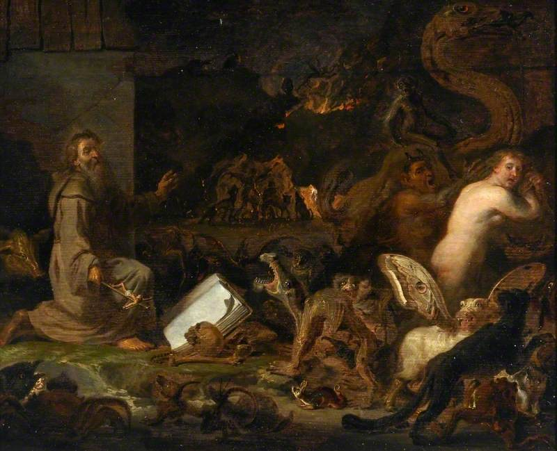 Cornelis Saftleven (attributed) - The Temptation of Saint Anthony, 17th Century