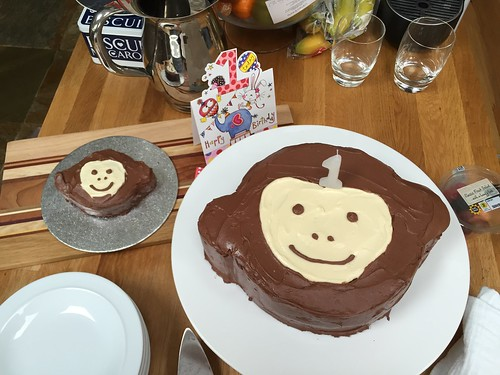 Monkey cakes for little E's first birthday