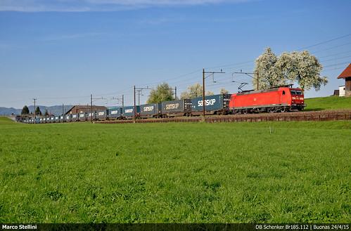 swiss db railways bombardier traxx schenker br185