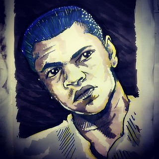 #muhammadali #fighter #boxe #boxer #cassiusclay #iamthegreatest #speed #islam #allah #champion #heavyweight #black #white #blue #yellow #grey #shade #shadow #magiccolor #colors #draw #drawing #artsy #art #sketch #sketchbook #instaart #paulokalvo #artwork