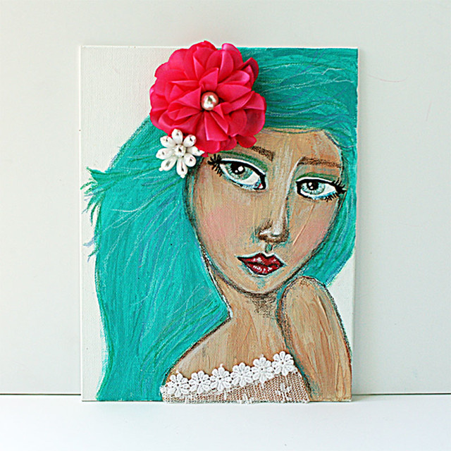 Mixed-media-girl-on-canvas