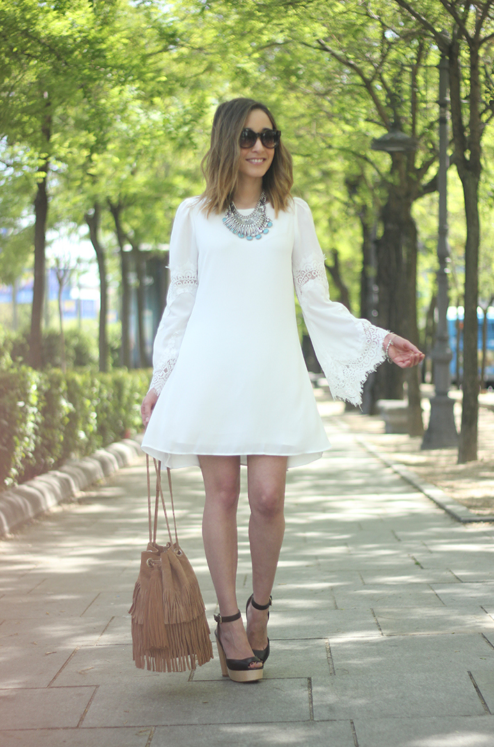 white dress with lace sleeves19