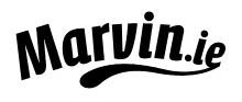 Marvin.ie logo in black on white background