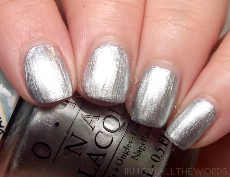 opi colour paints silver canvas