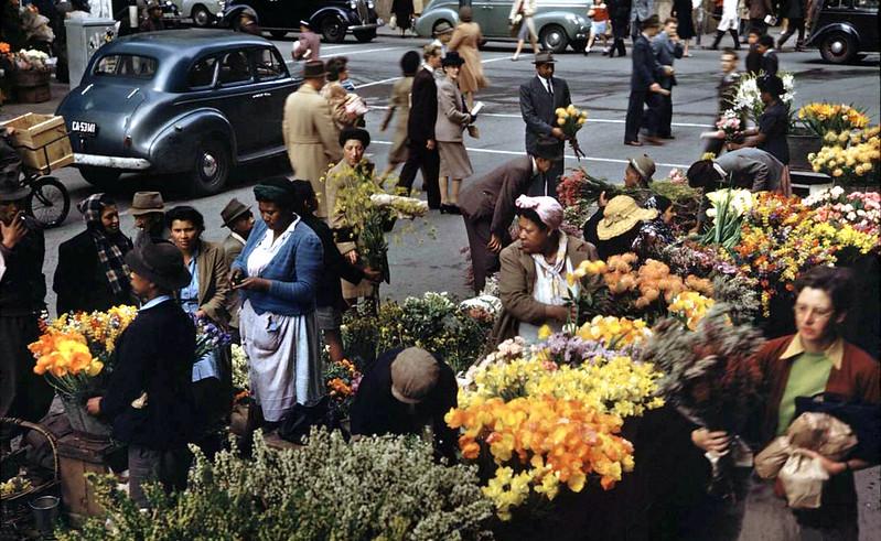 Flower sellers, June 1946.
