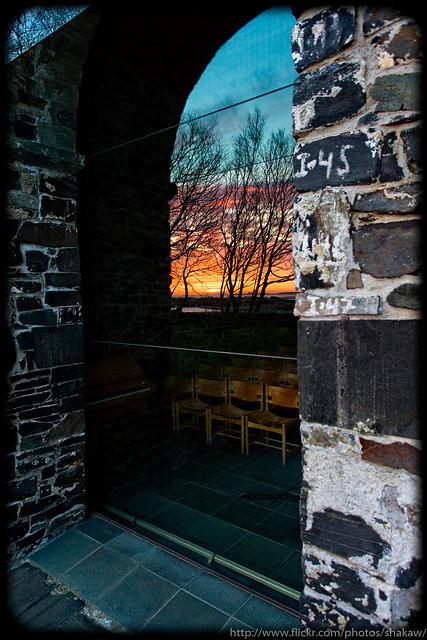 Sola ruinkirke - sunset view