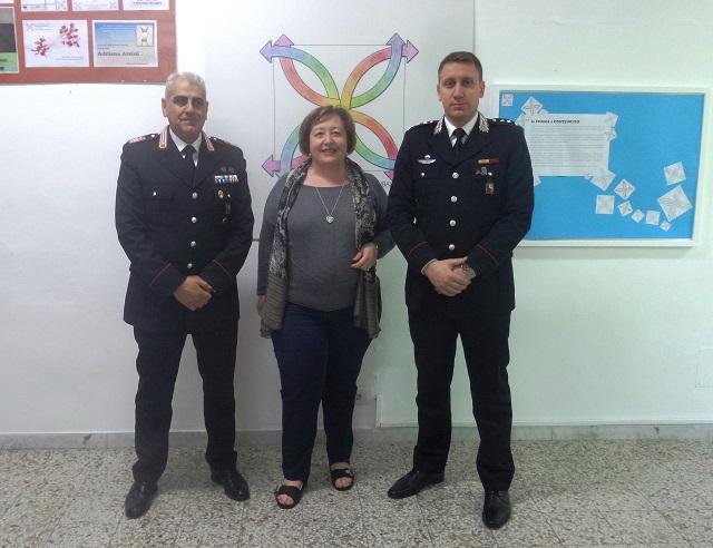 Noicattaro. Carabinieri alla Pascoli intero