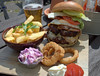 'Ultimate' Burger, Seasoned Fries, Onion Rings, Homemade Slaw