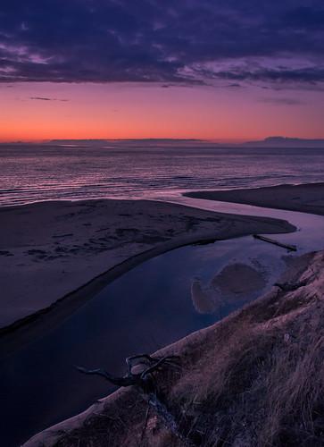 ocean sunset sea beach water colors river evening twilight dusk dune latvia lighs nikond3300