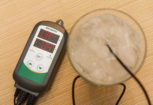 entering the ca temperature calibration adjustment on the Inkbird ITC-308 Temperature Controller