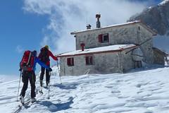 Skitouren in Griechenland, Besteigung Olymp/Mitikas, 2918 m, Refuge Kakalos, 2640 m. Foto: Herbert Streibel.
