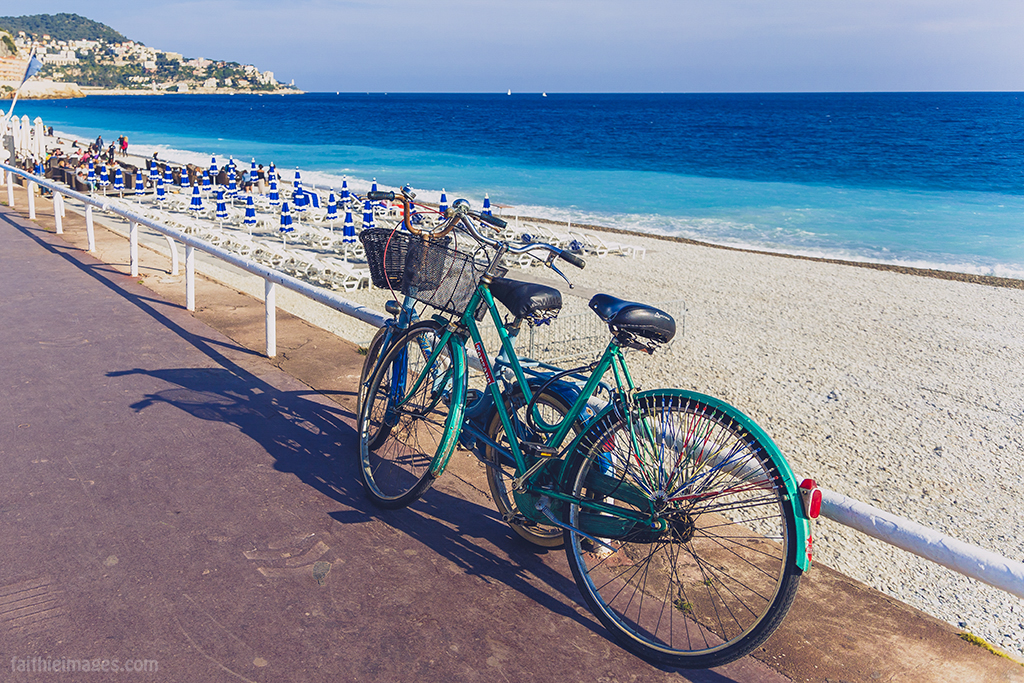 The gorgeous beach of Nice, France