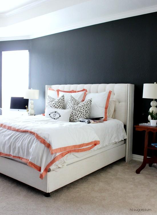 Hi Sugarplum | Master Bedroom Dark Walls