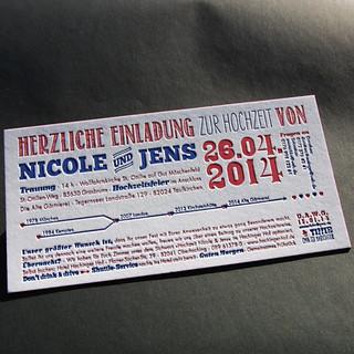 Letterpress Einladung