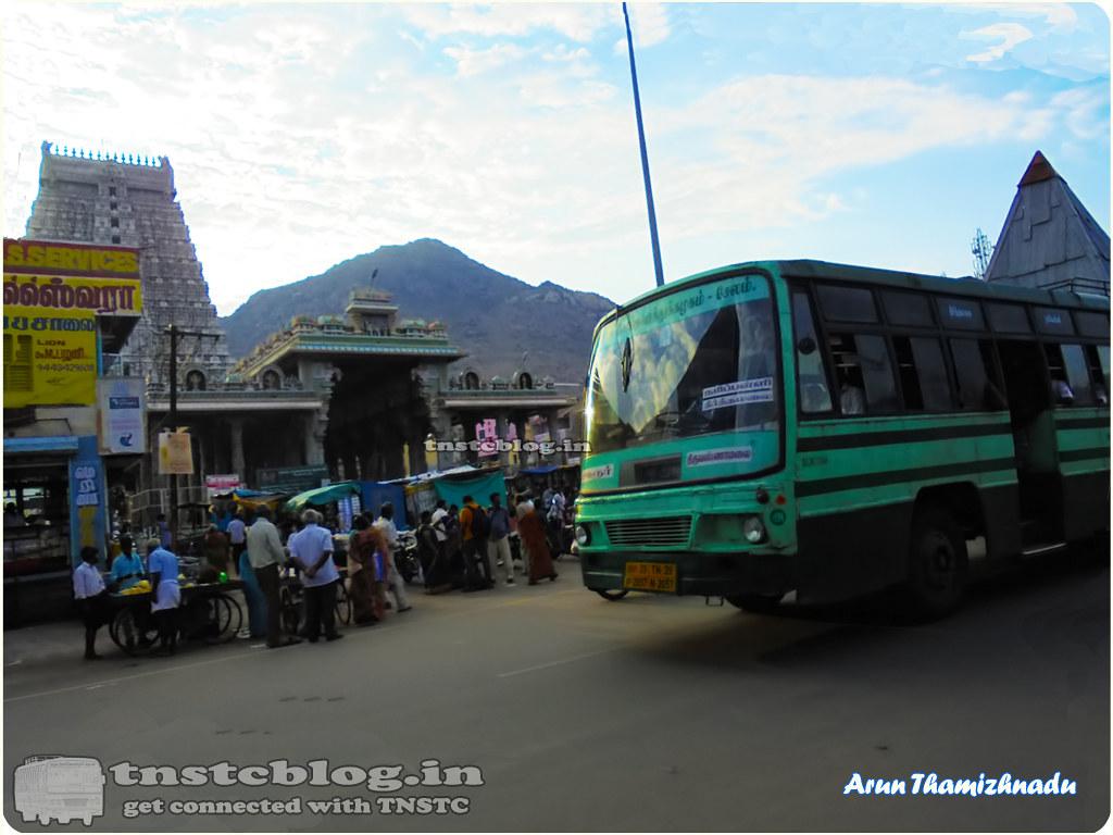TN-29N-2057 of Harur Depot Route Harur - Tiruvannamalai via Theerthamalai, Naripalli, Thanipadi, Thandrampattu.
